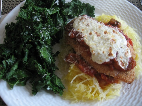 Plated Chicken Parmesan